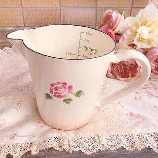 アフタヌーンティー(AfternoonTea)の新品未使用♡マニー♡ローズ ホーローピッチャーマグカップ ウェッジウッド (収納/キッチン雑貨)