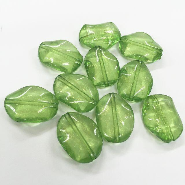 貴和製作所(キワセイサクジョ)のビーズ 10粒セット マスカット グリーン ハンドメイドの素材/材料(各種パーツ)の商品写真