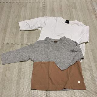 petit main - プティマイン ロングTシャツ 二枚セット