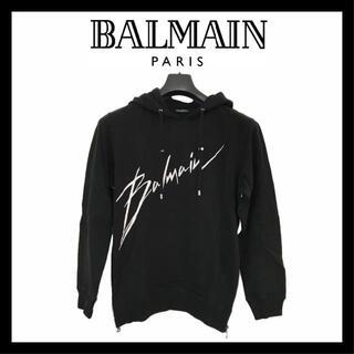 バルマン(BALMAIN)の【再入荷】新品 BALMAIN スウェット フード付き パーカー L 8352(スウェット)