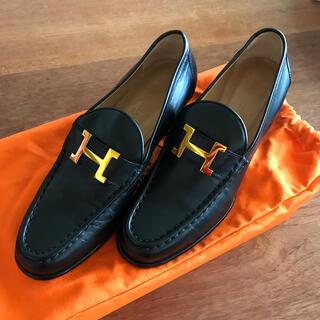 Hermes - Hermes エルメス 靴 ローファー ブラック