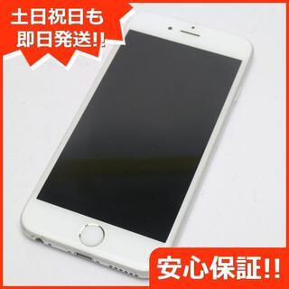 アイフォーン(iPhone)の良品中古 DoCoMo iPhone6 128GB シルバー 白ロム(スマートフォン本体)