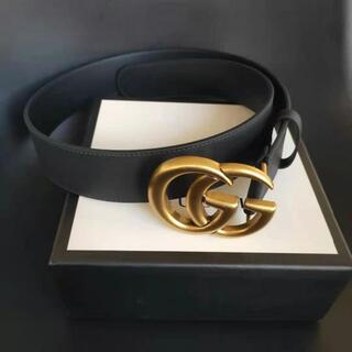 Gucci - Gucci★GGバックル レザーベルト4cm幅