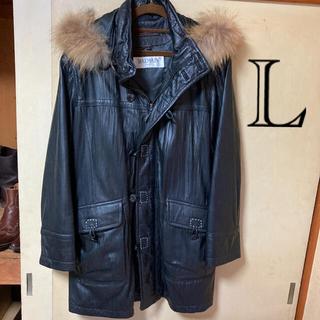 バルマン(BALMAIN)のバルマン羊革コート(黒)サイズL(レザージャケット)