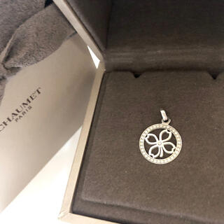 ショーメ(CHAUMET)のCHAUMET ショーメ 750WG アクロシュクール ダイヤモンド クローバー(ネックレス)