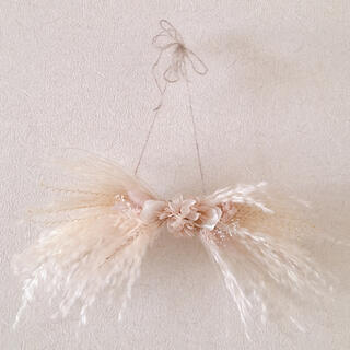 ribbon swag  mini      beige pink(ドライフラワー)