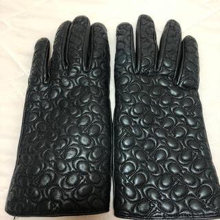 コーチ(COACH)のcoach 革手袋 レザー手袋★コーチ★(手袋)