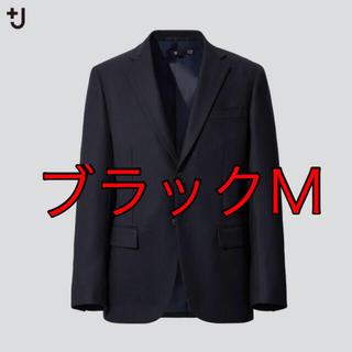 ユニクロ(UNIQLO)のUNIQLO +J ウールテーラードジャケット セットアップ可能 M BLACK(テーラードジャケット)