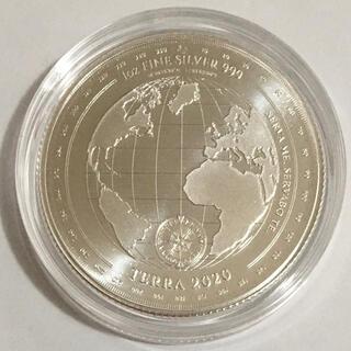 2020年トケラウ発行「地球」1オンス銀貨(貨幣)