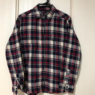 アズールバイマウジー(AZUL by moussy)のアズールバイマウジー フランネルチェックシャツ レッド×ネイビー M(シャツ/ブラウス(長袖/七分))