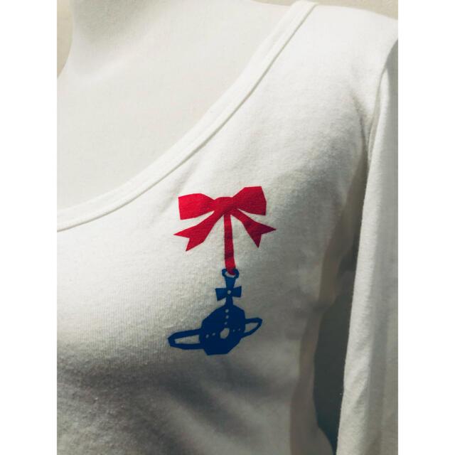 Vivienne Westwood(ヴィヴィアンウエストウッド)のヴィヴィアンエッセンシャル七分袖カットソーリボン二階堂ふみ椎名林檎益若つばさ レディースのトップス(カットソー(長袖/七分))の商品写真