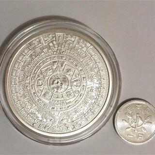 アステカカレンダー 2オンス純銀メダル 約62g カプセル付き 米国製(金属工芸)