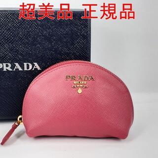 PRADA - 【超美品】PRADA(プラダ)ミニポーチ サフィアーノ レッド