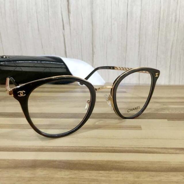 CHANEL(シャネル)のシャネル メガネ 鼈甲フレーム ココマーク3364 レディースのファッション小物(サングラス/メガネ)の商品写真