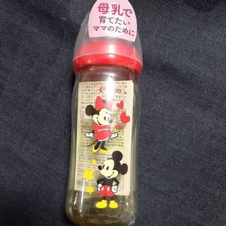 ピジョン(Pigeon)の新品 ピジョン母乳実感哺乳瓶 プラスチック製240ml ミッキー&ミニーマウス柄(哺乳ビン)
