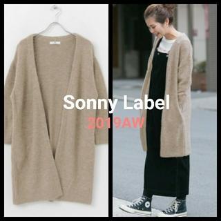 サニーレーベル(Sonny Label)のSonny Label モヘア混へアリーニットカーディガン  2019AW(カーディガン)
