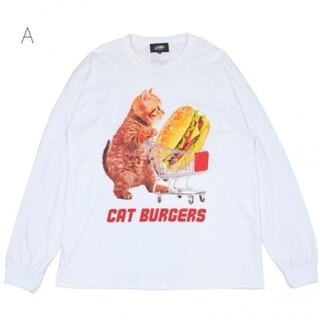 ミルクボーイ(MILKBOY)のLand by MILKBOY CAT BURGER ロンT 白(Tシャツ/カットソー(七分/長袖))