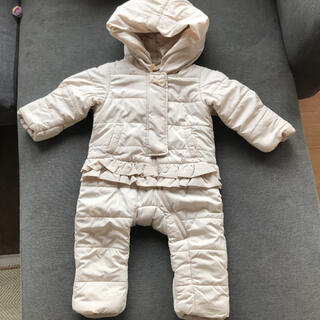 petit main - 【美品】プティマイン アウター カバーオール 80cm  ジャンプスーツ