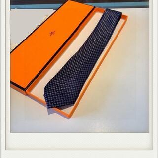 Hermes - メンズ ネクタイ シルク ブルー