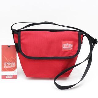 マンハッタンポーテージ(Manhattan Portage)の新品 マンハッタン ポーテージ ショルダーバッグ 鞄 レッド ベルクロ付 赤(ショルダーバッグ)