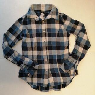 デュラスアンビエント(DURAS ambient)のデュラスアンビエント シャツ チェック ブルー チェックシャツ(シャツ/ブラウス(長袖/七分))