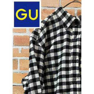 GU - 【お洒落】GU ジーユー☆お洒落で可愛いモノクロのギンガムチェックシャツ
