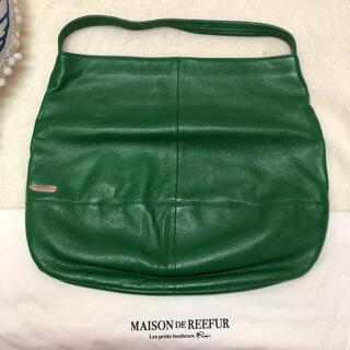 メゾンドリーファー(Maison de Reefur)の超美品 MAISON DE REEFUR バッグ グリーン 定価40000円(ハンドバッグ)