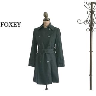 フォクシー(FOXEY)のFOXEY トレンチコート ブラック レディース コート(トレンチコート)
