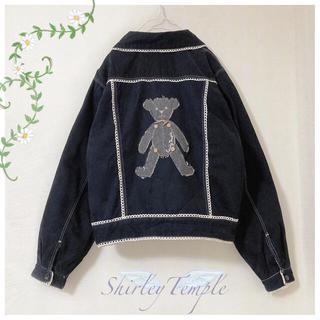 Shirley Temple - シャーリーテンプル ♡ テディベアアップリケジャケット ♡