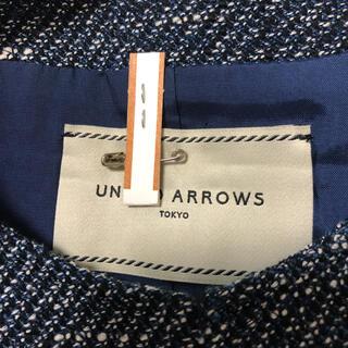 UNITED ARROWS - UNITEDARROWS ◆ノーカラージャケット ツイードジャケット