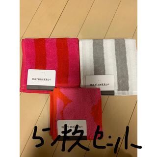 marimekko - 『新品』マリメッコ ハンカチ タオル 5枚セット
