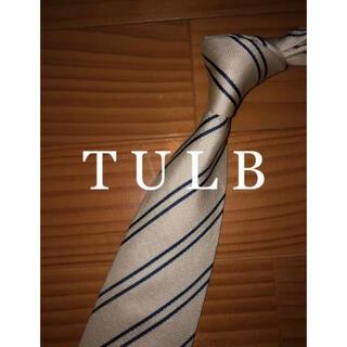 ユナイテッドアローズ(UNITED ARROWS)の美品 タルブ オフホワイトストライプ セッテピエゲ(ネクタイ)