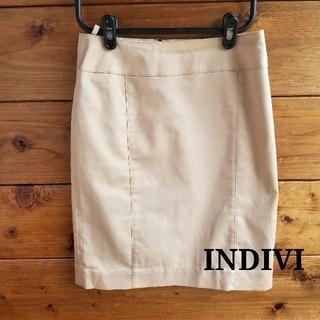 インディヴィ(INDIVI)の✨INDIVI✨ベージュ タイトスカート(ひざ丈スカート)