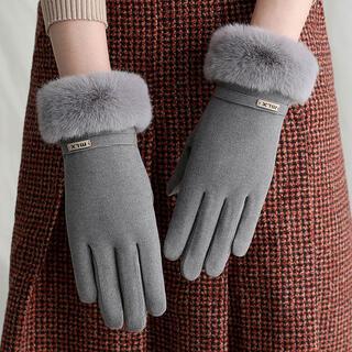 ♡新品・新商品入荷!! 手袋 秋冬かわいい グレー(手袋)