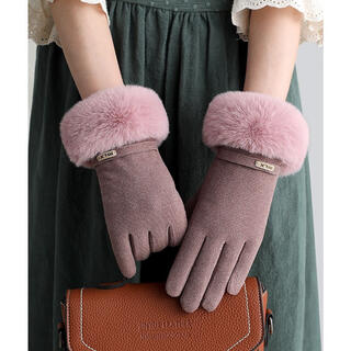 ♡新品・新商品入荷!! 手袋 秋冬かわいい パープル(手袋)