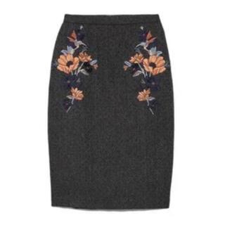 Lily Brown - 【送込】リリーブラウン フラワー刺繍スカート アプワイザーリッシェ ノエラ