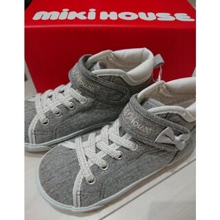 mikihouse - ミキハウス MIKI HOUSE ミニリボン付きハイカットキッズシューズ