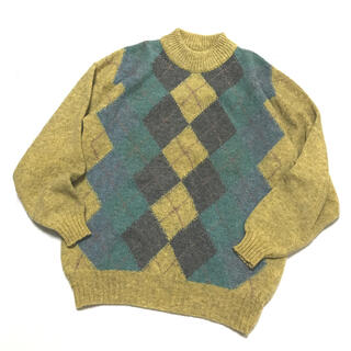 MARGARET HOWELL - SCOTLAND VINTAGE Argyle Knit 90-00s