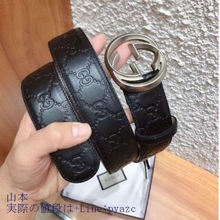 FENDI - グッチ 大人気 ダブルGバックル レザー ベルト 3.8 cm幅