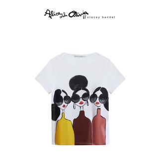 アリスアンドオリビア(Alice+Olivia)の❤️ ★Alice olive 2020新作 新品  白シャツ(Tシャツ(半袖/袖なし))