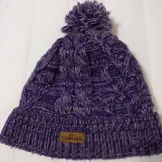 モンベル(mont bell)のモンベル mont-bell ニット帽 Freeサイズ 紫 アウトドア(ニット帽/ビーニー)