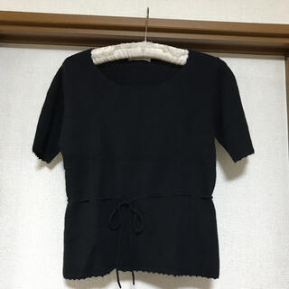 ベルメゾン(ベルメゾン)のMiXT 黒半袖ニット(ニット/セーター)