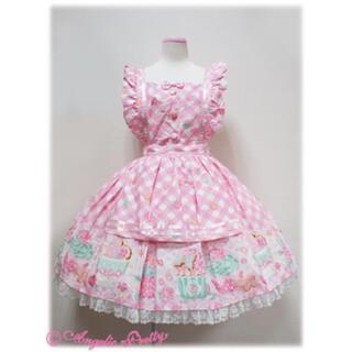 アンジェリックプリティー(Angelic Pretty)のSugar Fairy Cakeエプロン風スカート(ひざ丈スカート)