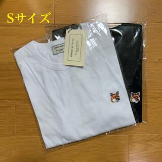 MAISON KITSUNE' - メゾンキツネ フォックスヘッドパッチ Tシャツ 白黒セット Sサイズ