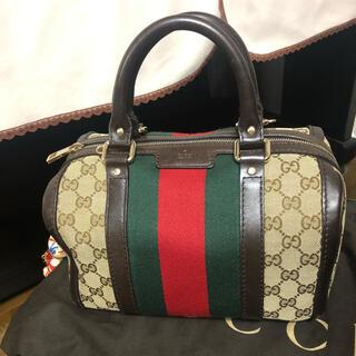 Gucci - GUCCI GG シェリーライン ハンドバッグ ミニボストンバッグ