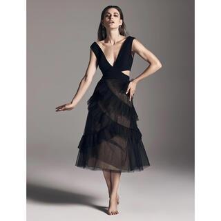 ビーシービージーマックスアズリア(BCBGMAXAZRIA)の❤️BCBGMAXAZRIA 20秋新作新品 黒ドレス ワンピース パーティー(ロングドレス)
