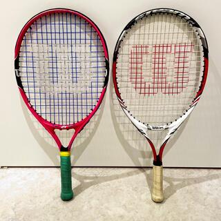 ウィルソン(wilson)のジュニアテニスラケット21インチ2本(ラケット)