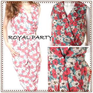 ロイヤルパーティー(ROYAL PARTY)のROYAL PARTY ロイヤルパーティー 花柄 オールインワン ジャンプスーツ(オールインワン)