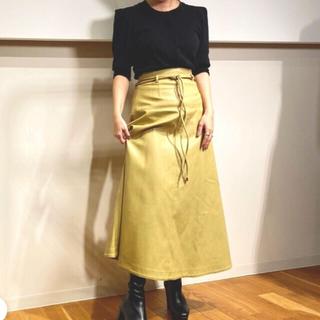 ランダ(RANDA)のRANDA レザースカート(ロングスカート)