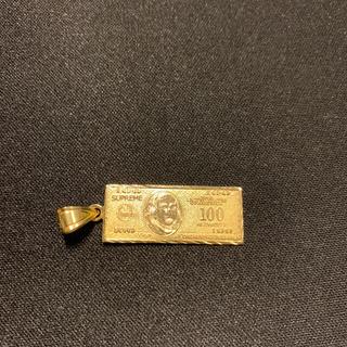 シュプリーム(Supreme)のsupreme 100dollar bill gold シュプリーム(ネックレス)